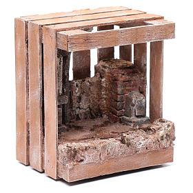 Capanna per presepe in legno 20x15x15 per statue 10 cm s3