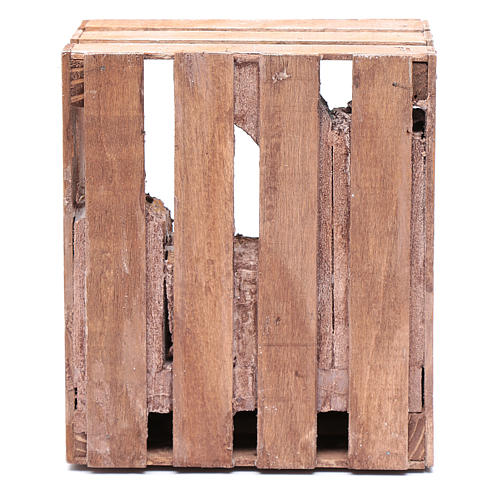 Capanna per presepe in legno 20x15x15 per statue 10 cm 4