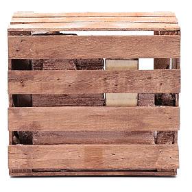 Capanna in cassetta legno 15x20x15 cm presepe 10 cm s4