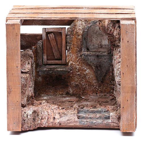 Capanna in cassetta legno 15x20x15 cm presepe 10 cm 1