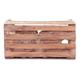 cave in wooden box for nativity scene 20x35x15 cm s8
