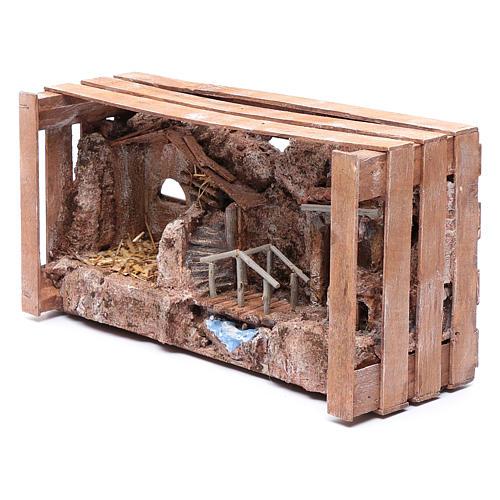 Grotta in cassetta per presepe 20x35x15 cm 6