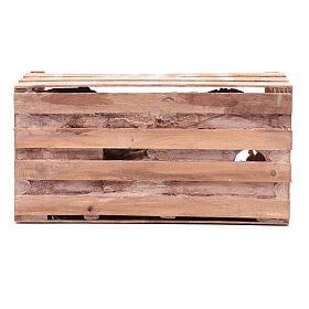 cave in wooden box for nativity scene 20x35x15 cm s4