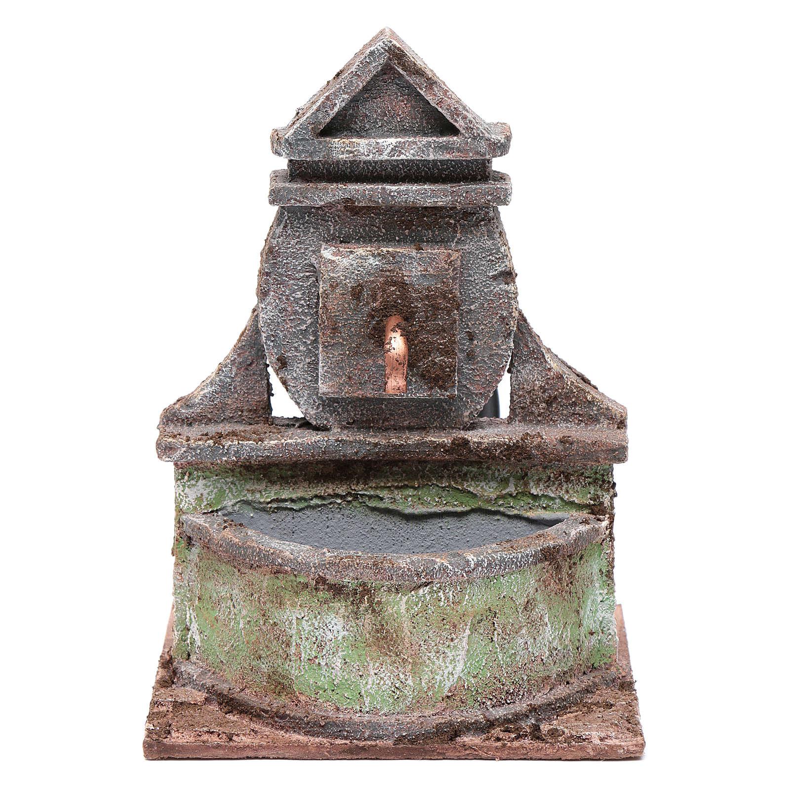Fontana per presepe con pompa 20x15x15 cm 4