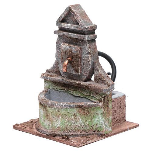 Fontana per presepe con pompa 20x15x15 cm 2