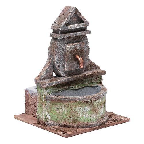 Fontana per presepe con pompa 20x15x15 cm 3