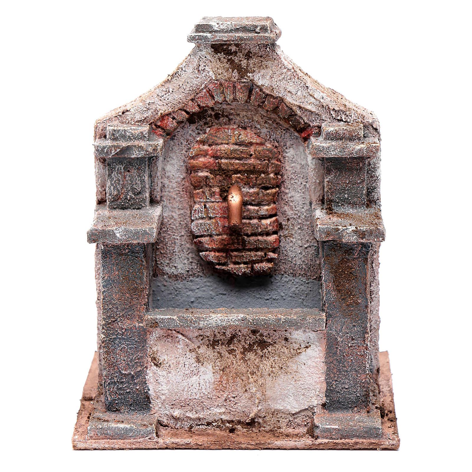 Fontaine en polystyrène pour crèche 20x14,5x14,5 cm 4