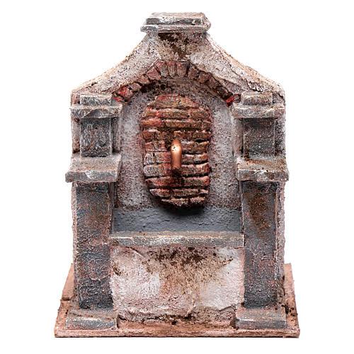 Fontaine en polystyrène pour crèche 20x14,5x14,5 cm 1