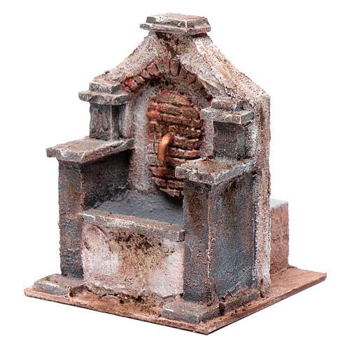 Fontaine en polystyrène pour crèche 20x14,5x14,5 cm 2