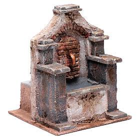 Fontana in polistirene per presepe 20x15x15 cm s3