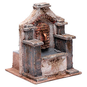 Polystyrene fountain for Nativity scene 20x15x15 cm s3