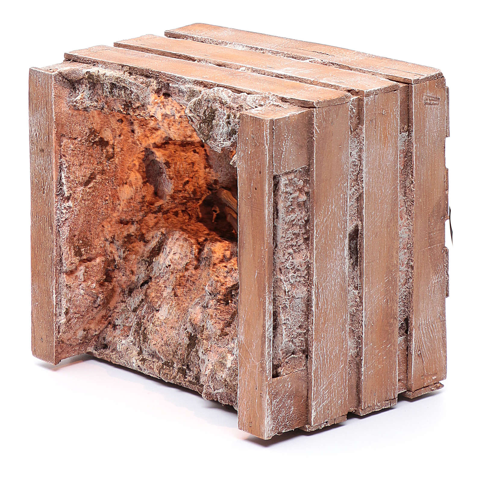 Gruta com manjedoura na casinha 15x20x15 cm 4
