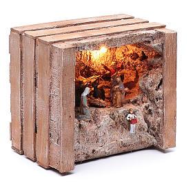 Gruta com manjedoura na casinha 15x20x15 cm s3