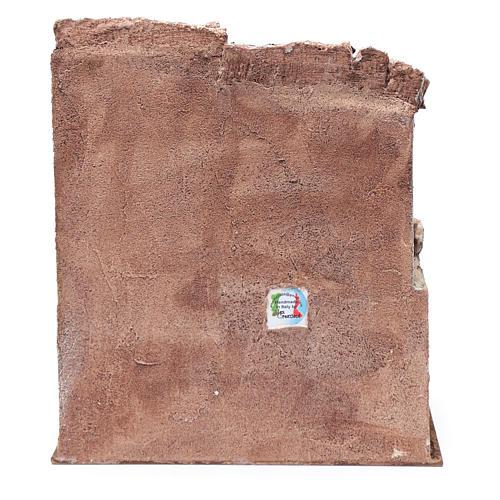 Casetta  con scale per presepe 35x30x20 cm 4