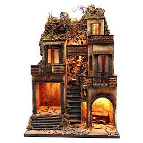 Borgo presepe napoletano scala centrale 66x40x50 cm s1
