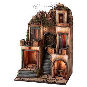 Borgo presepe napoletano scala centrale 66x40x50 cm s2