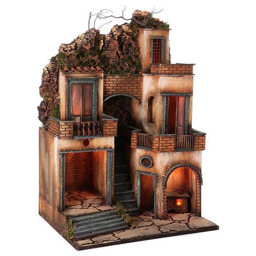 Borgo presepe napoletano scala centrale 66x40x50 cm 3