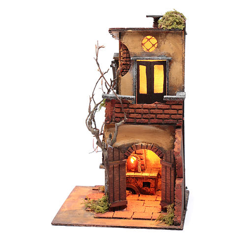House with double arch for nativity scene setting 30x20x20 cm 3