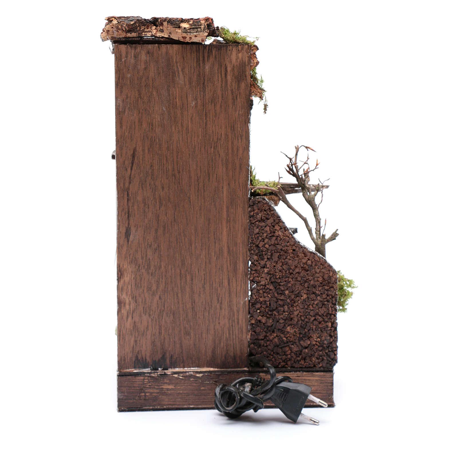 Ambientazione casa caminetto con luce presepe napoletano 4
