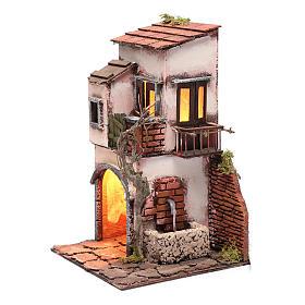 Casa con fuente ambientación para belén 30x20x20 s2