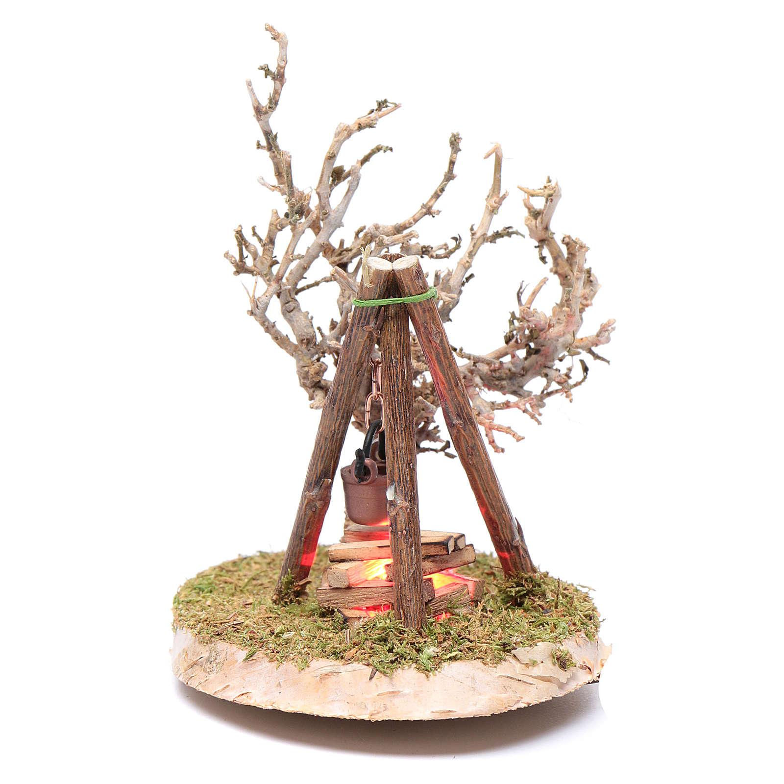 Pot on fire accessory for nativity scene 4