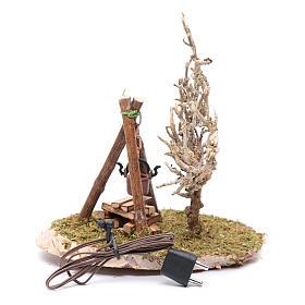 Pot on fire accessory for nativity scene s2