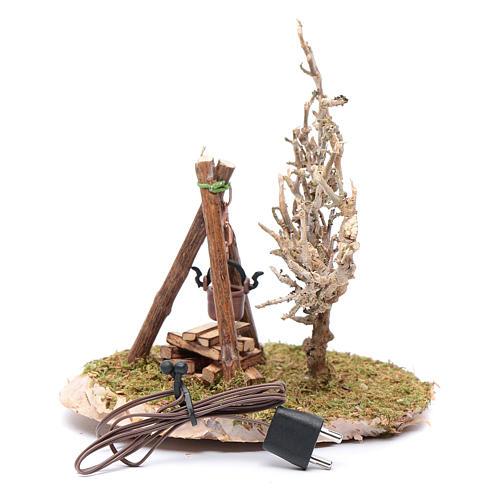 Pot on fire accessory for nativity scene 2