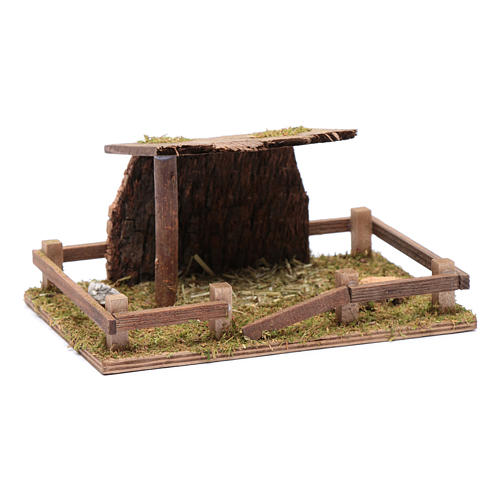 Fence with roof for animal statues 5x20x10 cm 3