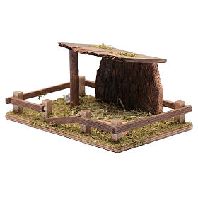 Fence with roof for animal statues 5x20x10 cm s2
