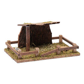 Fence with roof for animal statues 5x20x10 cm s3