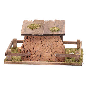 Fence with roof for animal statues 5x20x10 cm s4