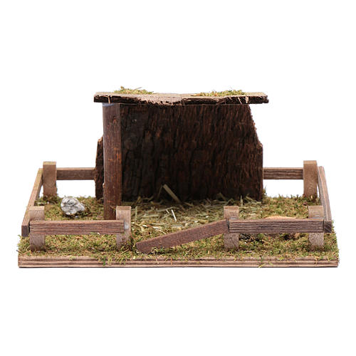 Fence with roof for animal statues 5x20x10 cm 1