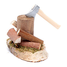 Woodcutter on trunk nativity scene accessories s2