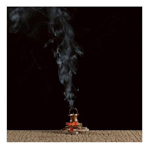 Olla sobre fuego con máquina de humo 4,5 V 2