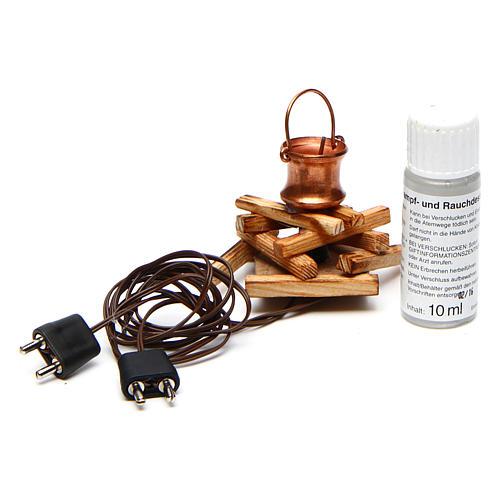 Casserole sur feu avec générateur de fumée 4,5V 3