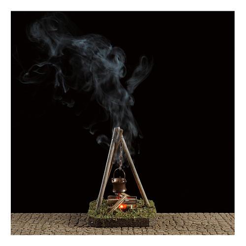 Nativity scene setting 10x10x10 cm pot on campfire 4,5 V 2