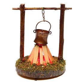 Fours et feux crèche: Casserole et feu de bivouac 4,5 V
