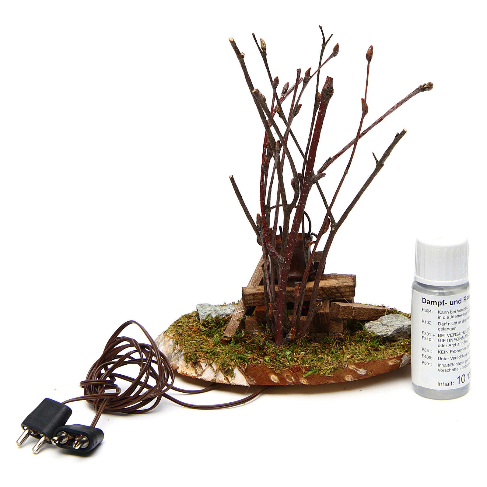 Pot on bonfire 10x10x5 cm - 4,5 V 4