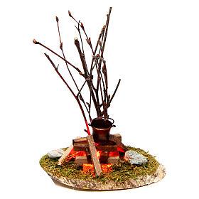 Pot on bonfire 10x10x5 cm - 4,5 V s1