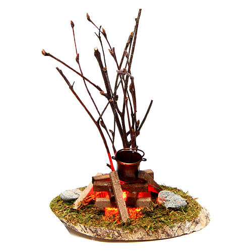 Pot on bonfire 10x10x5 cm - 4,5 V 1