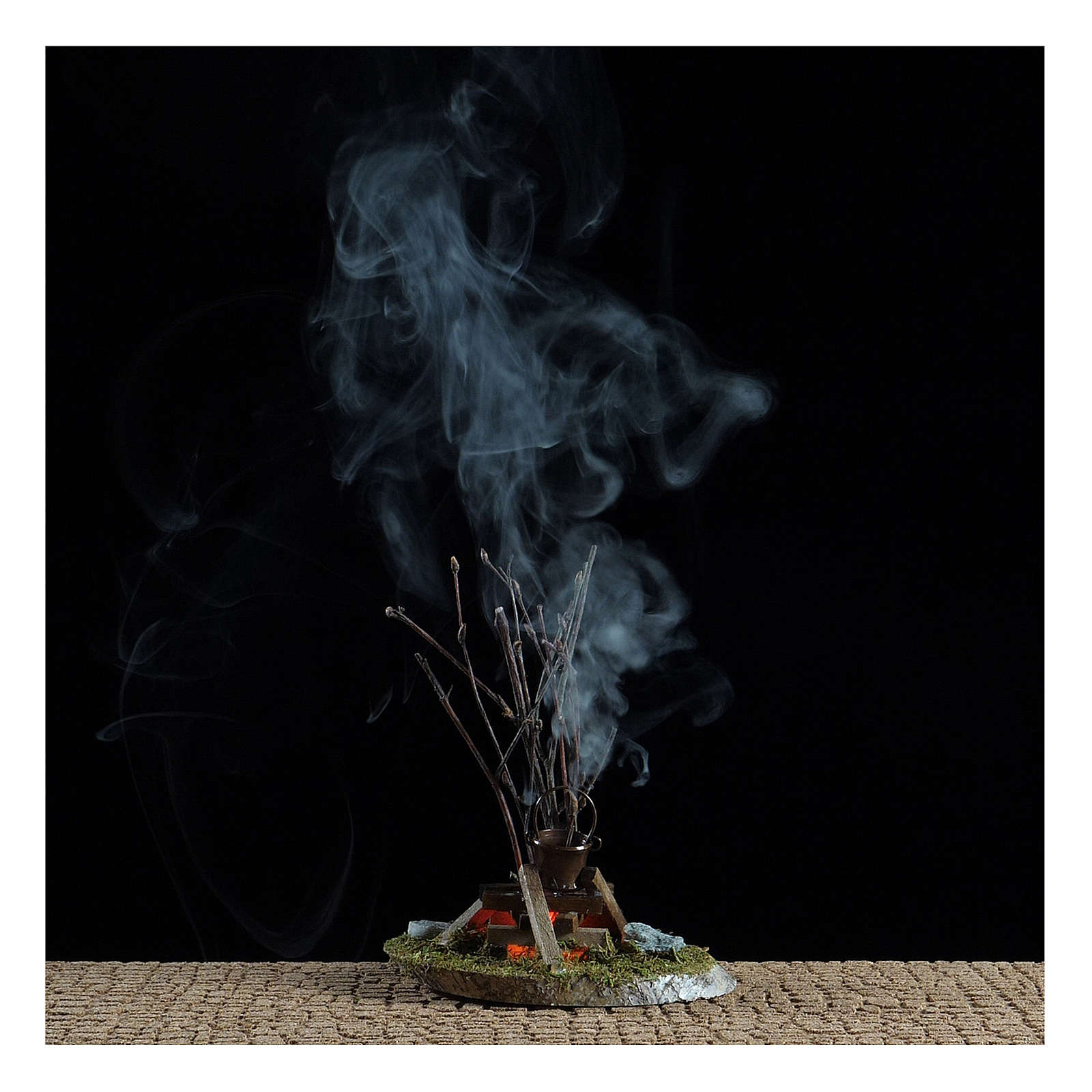 Olla sobre fuego fogata 10x10x5 cm - 4,5 V 4