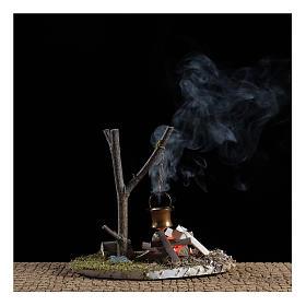 Bivouac bonfire scene with pot 10x15x10 cm s2