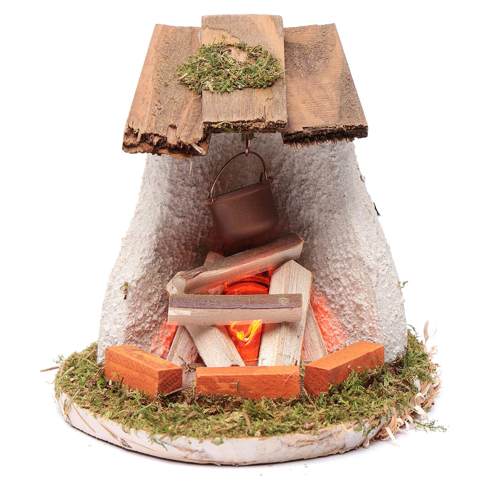 Ambientazione tettoia con falò 4