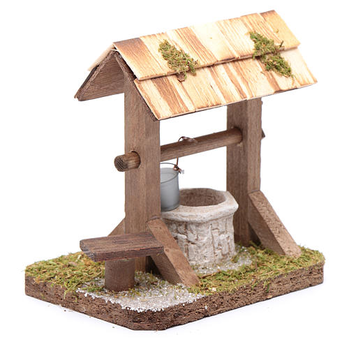 Well under canopy with movable bucket - nativity scene accessory 3