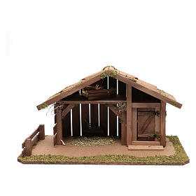 Nativity scene accessory 30x55x30 cm stable suitable for 12 cm statues s1