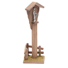 Nicho para belén con Virgen 15x5x10 cm s3