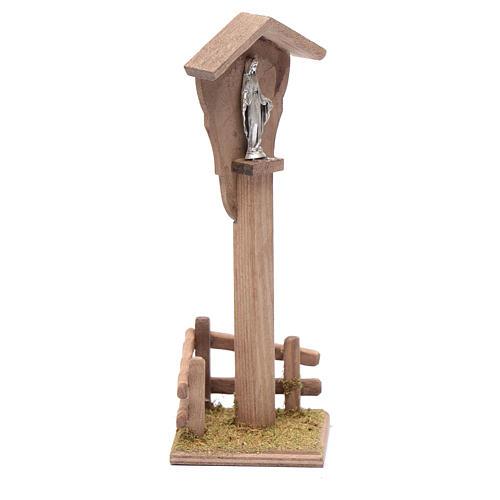 Nicho para belén con Virgen 15x5x10 cm 3