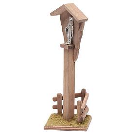 Niche pour crèche avec Sainte Vierge 15x5x10 cm s2