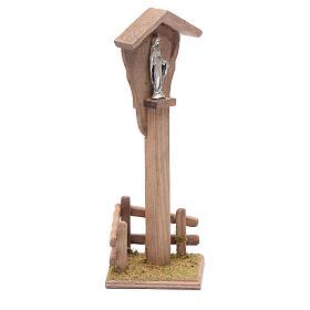 Niche pour crèche avec Sainte Vierge 15x5x10 cm s3
