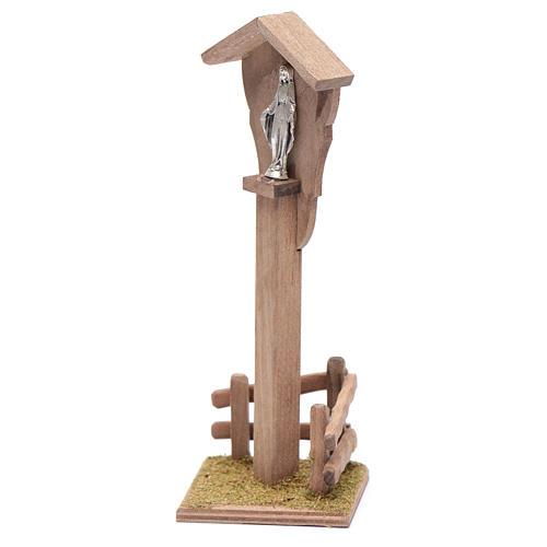 Niche pour crèche avec Sainte Vierge 15x5x10 cm 2
